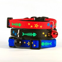 Fishbone Cat Collar