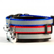 Reflective Stripe Cat Collar