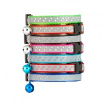 Reflective Stripe w/ Polka Dot Cat Collar
